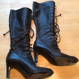 Michael Kors brown lace up boots